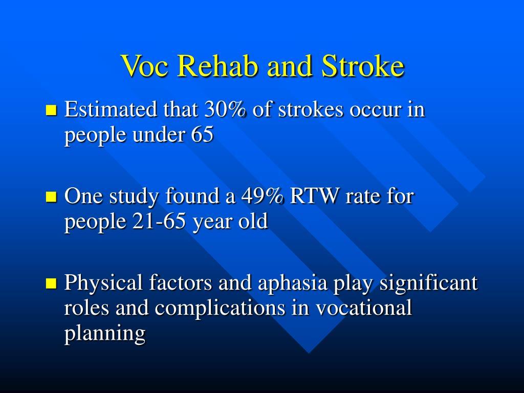 Voc Rehab and Stroke