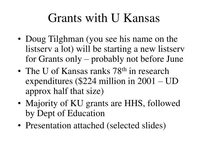 Grants with U Kansas