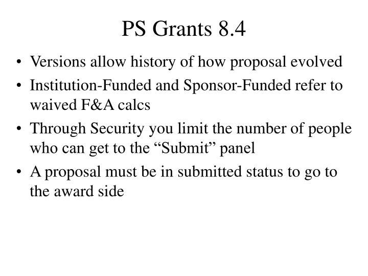 PS Grants 8.4