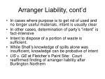 arranger liability cont d