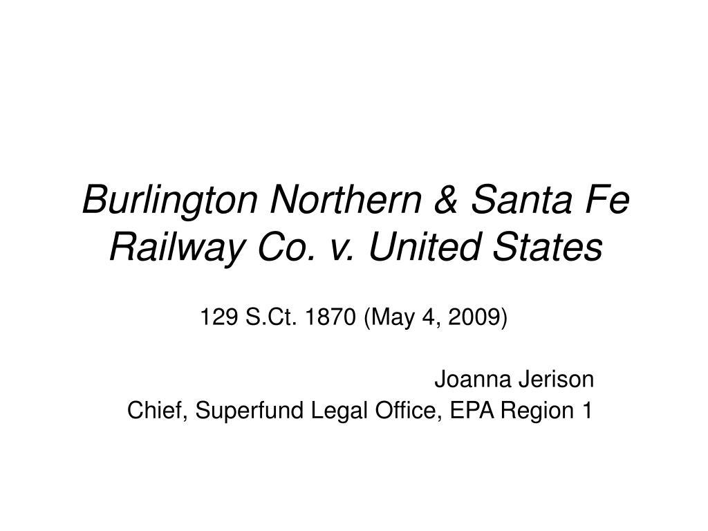 burlington northern santa fe railway co v united states l.