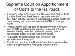 supreme court on apportionment of costs to the railroads