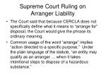 supreme court ruling on arranger liability