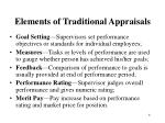 elements of traditional appraisals