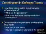 coordination in software teams