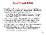 pass through effect