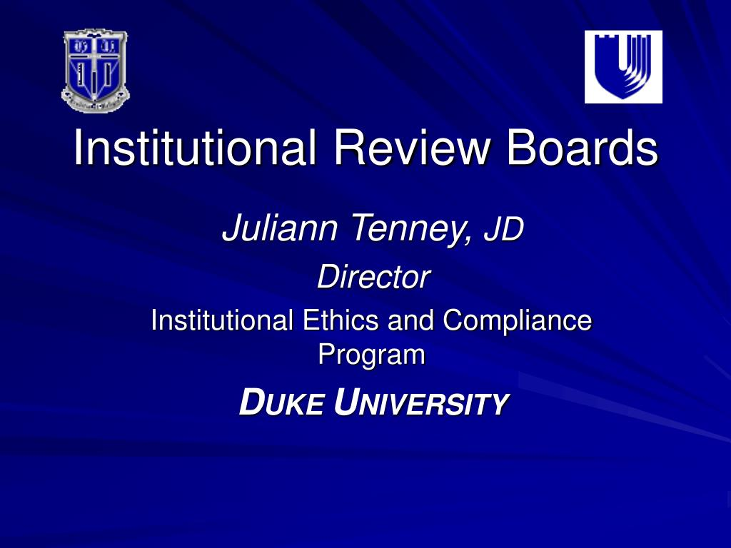 institutional review boards l.