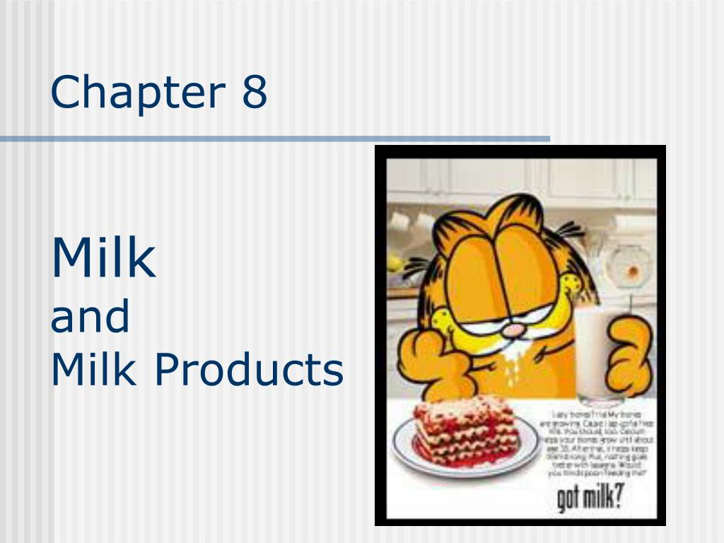 chapter 8 milk and milk products l.