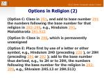 options in religion 2