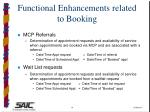 functional enhancements related to booking14