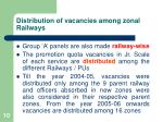 distribution of vacancies among zonal railways