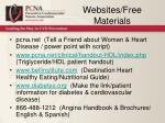 websites free materials