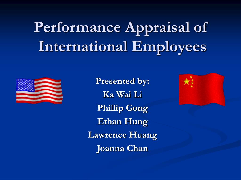 performance appraisal of international employees l.