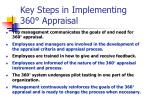 key steps in implementing 360 appraisal