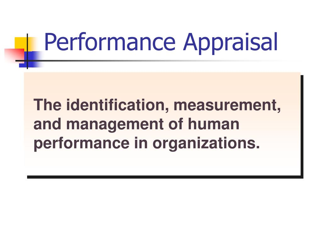 performance appraisal l.