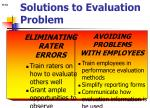 solutions to evaluation problem