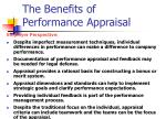 the benefits of performance appraisal