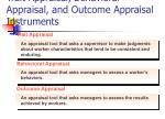 trait appraisal behavioral appraisal and outcome appraisal instruments