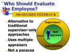 who should evaluate the employee14