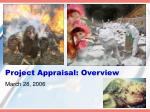project appraisal overview