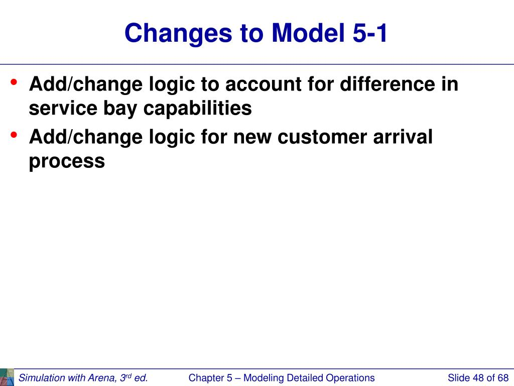 Changes to Model 5-1