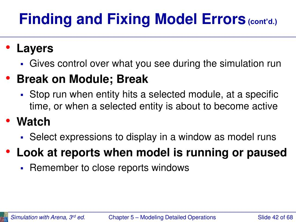 Finding and Fixing Model Errors