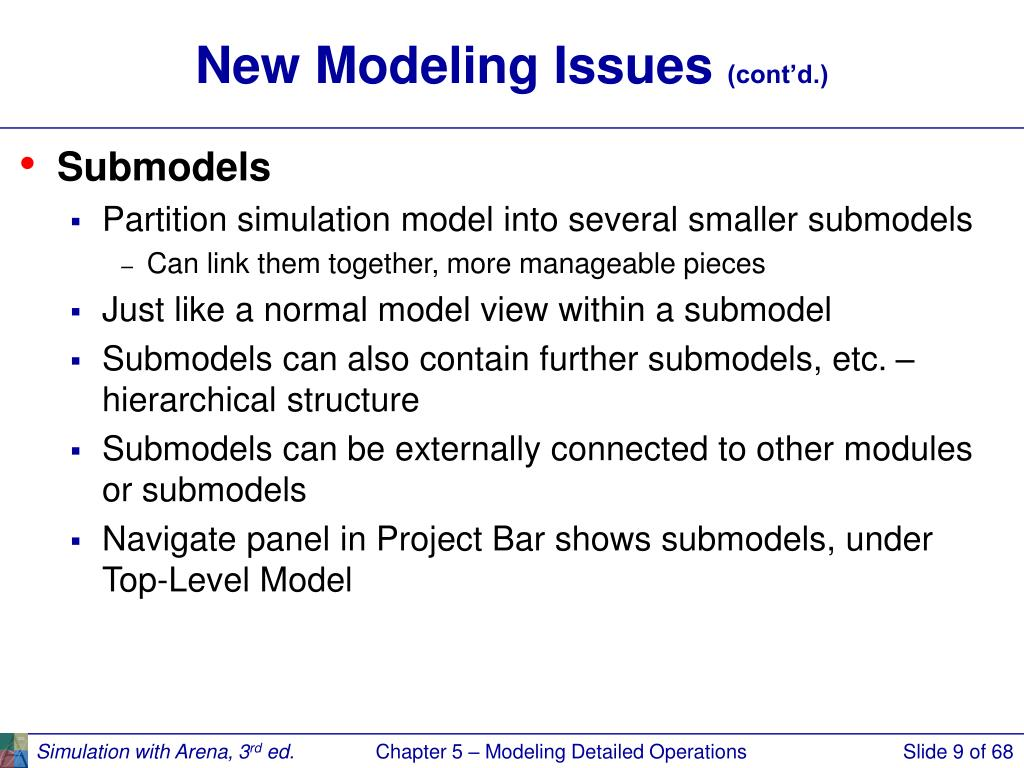 New Modeling Issues