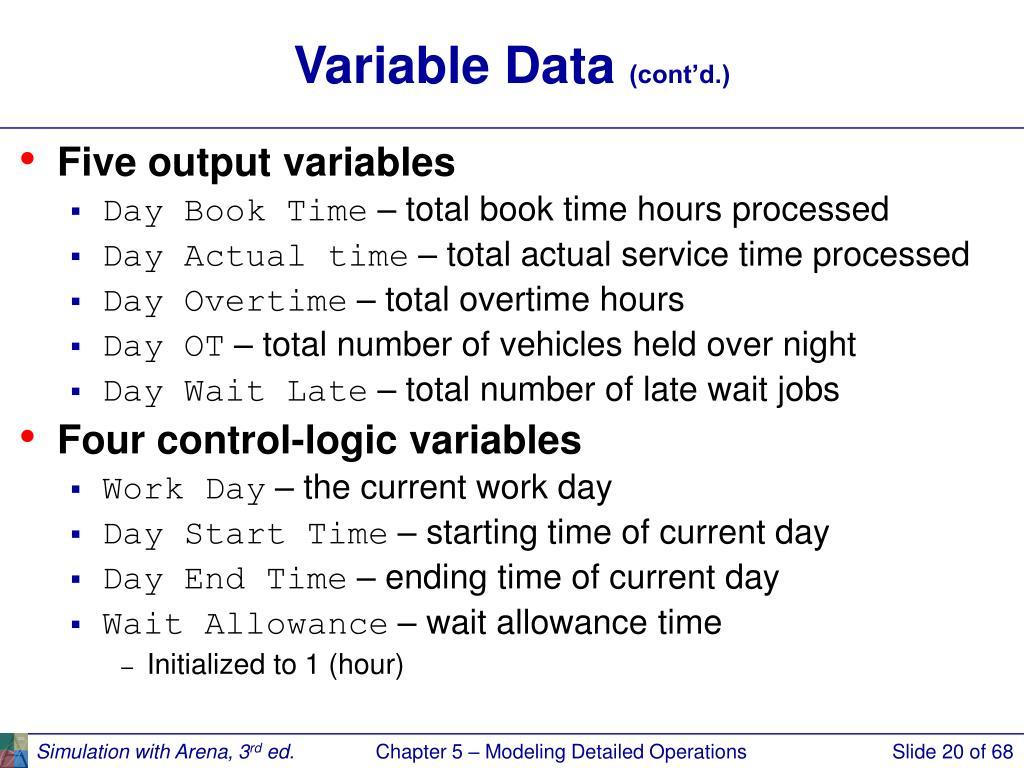 Variable Data