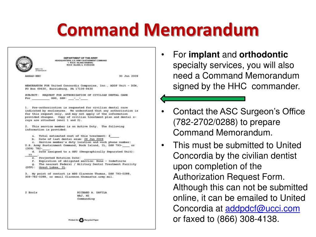 Command Memorandum