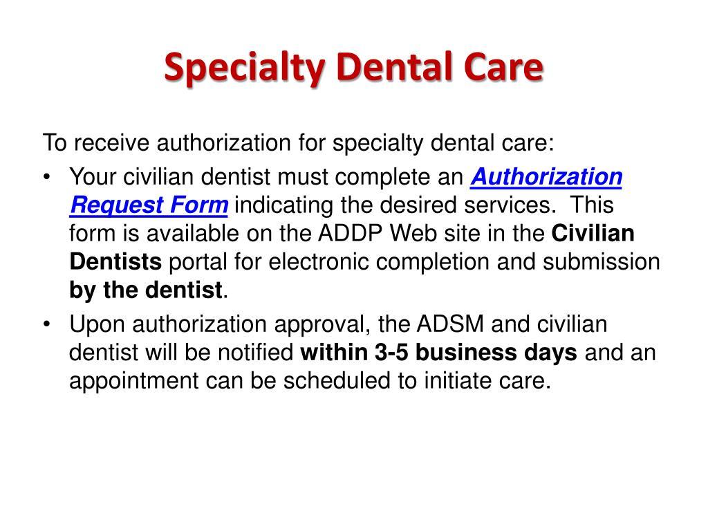 Specialty Dental Care