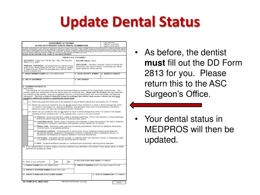 Update Dental Status