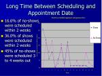 long time between scheduling and appointment date
