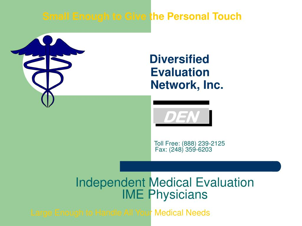 small enough to give the personal touch diversified evaluation network inc l.