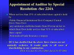appointment of auditor by special resolution sec 224a