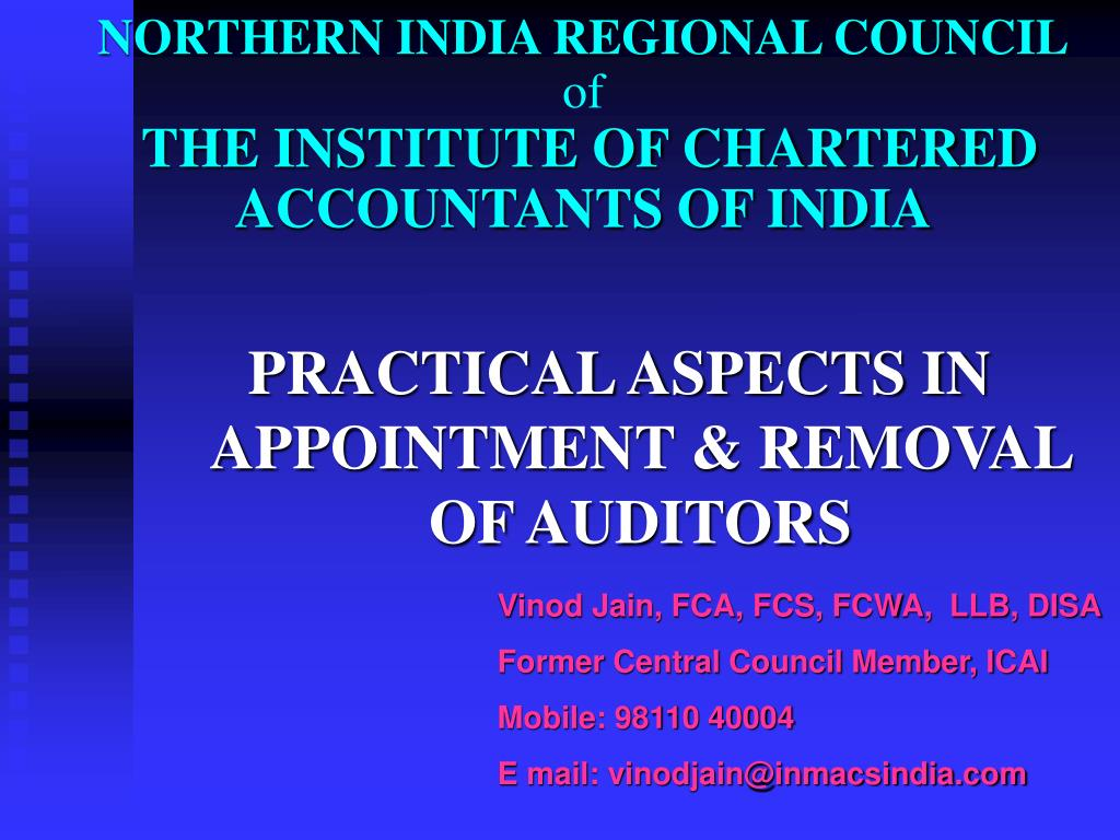 northern india regional council of the institute of chartered accountants of india l.