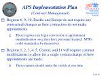 aps implementation plan contract management26