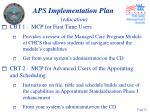 aps implementation plan education22