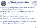 aps implementation plan people