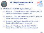 aps implementation plan people18