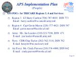 aps implementation plan people19