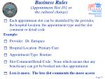 business rules appointment slot 101 or the cultural change