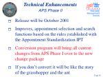 technical enhancements aps phase ii