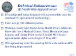 technical enhancements e health web appointments