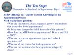 the ten steps conversion to standardized appointment types37