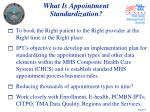 what is appointment standardization
