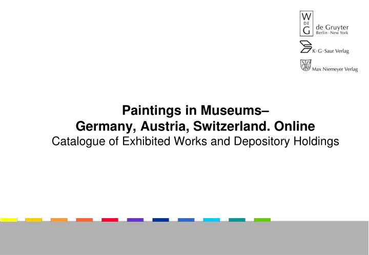 Paintings in Museums–