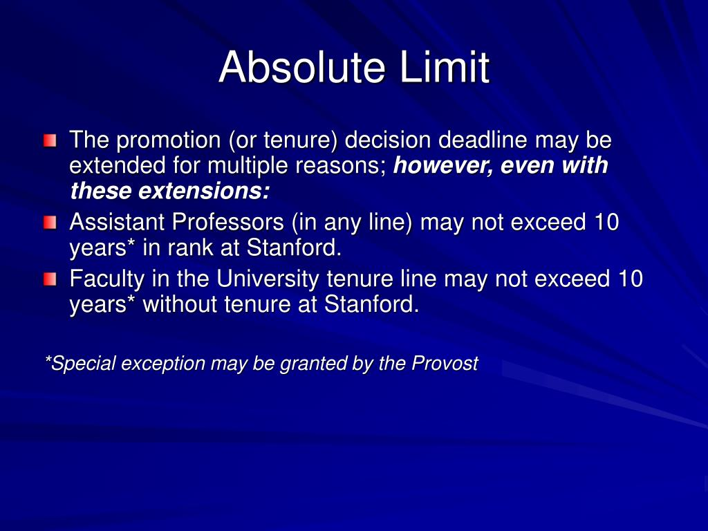 Absolute Limit