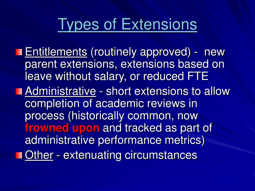 Types of Extensions