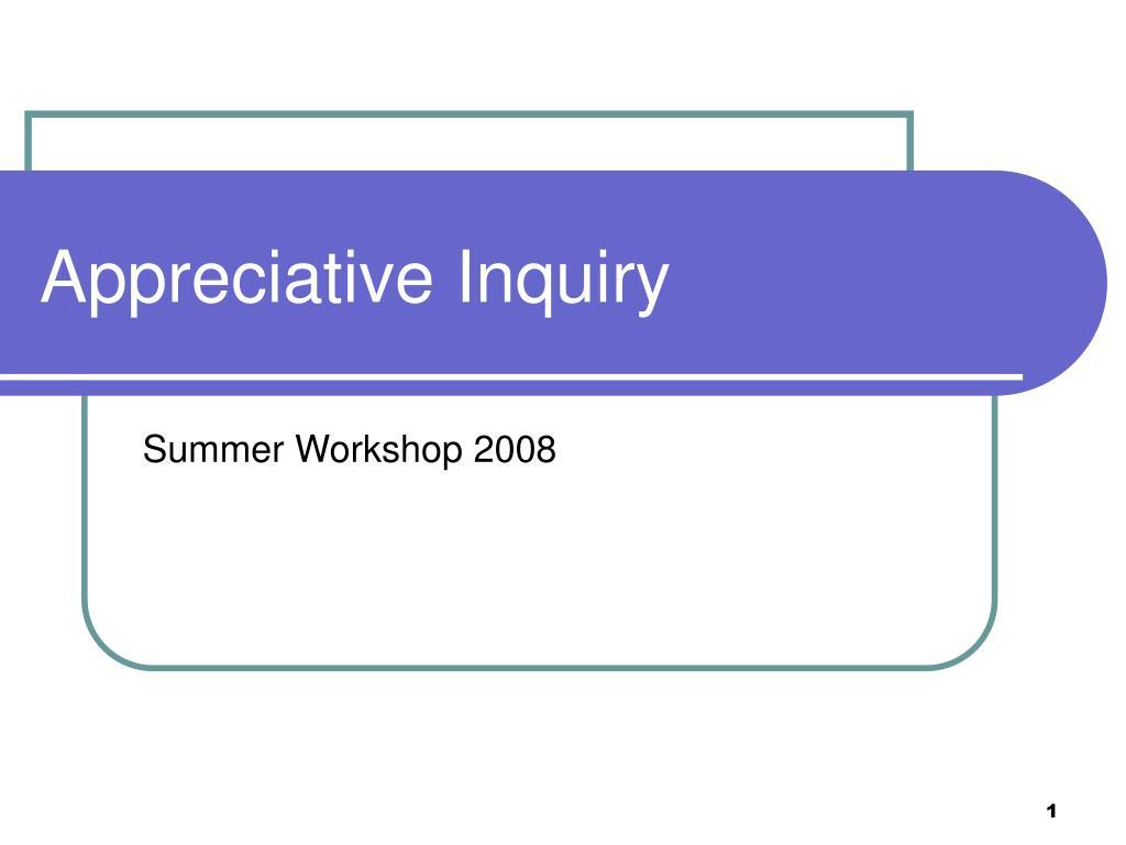 appreciative inquiry l.