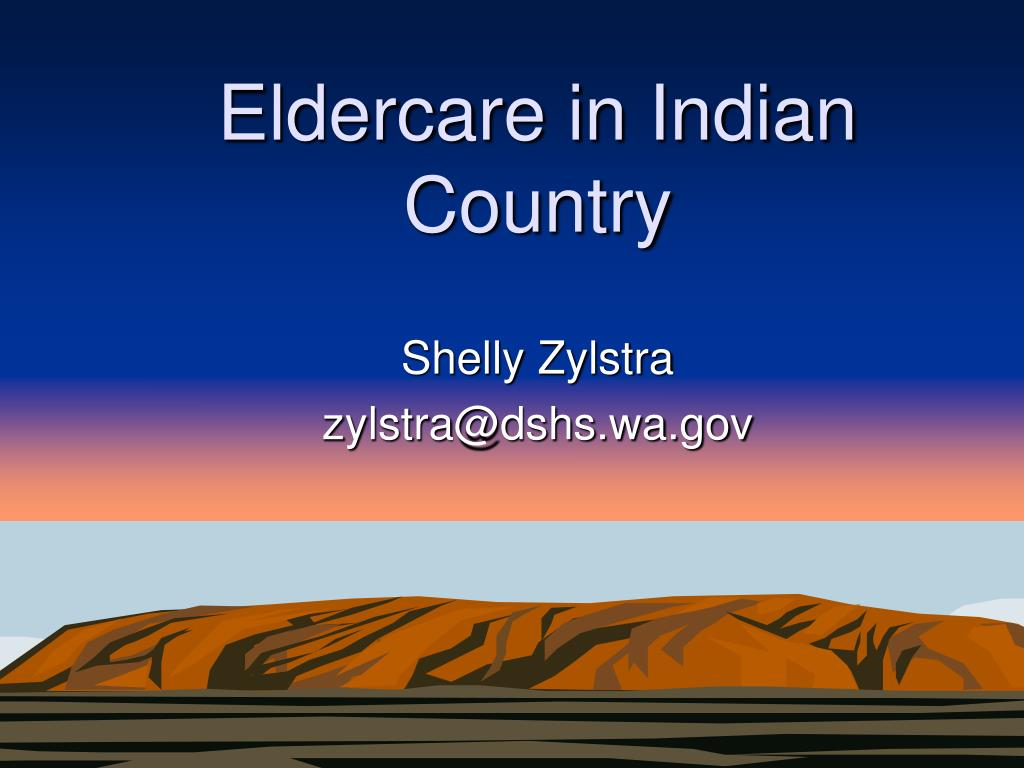 eldercare in indian country l.